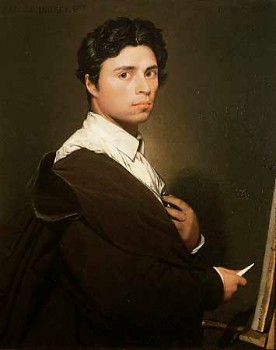 Jean Auguste Dominique Ingres, Self Portrait ca. 1800